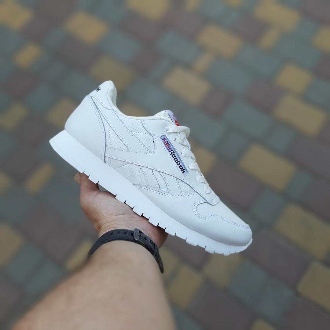Мужские кроссовки Reebok Classic (белые) 10200