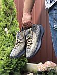 Чоловічі кросівки Adidas Yeezy Boost 380 (сіро-бежеві з чорним) 9512, фото 2