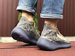 Чоловічі кросівки Adidas Yeezy Boost 380 (сіро-бежеві з чорним) 9512, фото 3