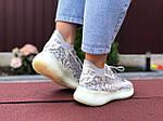 Жіночі кросівки Adidas Yeezy Boost 380 (сіро-білі) 9515, фото 4