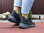 Женские кроссовки Adidas Yeezy Boost 380 (черные) 9516, фото 2