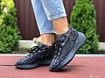 Женские кроссовки Adidas Yeezy Boost 380 (черные) 9516, фото 4
