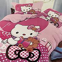 Детское постельное белье. Хелло Китти. Hello Kitty Полуторный Фланель