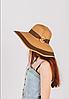 Крислатий капелюшок Ребекка капучиново-шоколадна з бамбуковим кільцем, фото 3