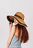 Крислатий капелюшок Ребекка капучиново-шоколадна з бамбуковим кільцем, фото 2