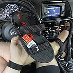 Мужские летние сандалии Under Armour Sandals Fattire x Michelin Black Red (черно-красные) C-1866, фото 2