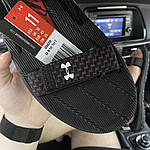 Мужские летние сандалии Under Armour Sandals Fattire x Michelin Black Red (черно-красные) C-1866, фото 4