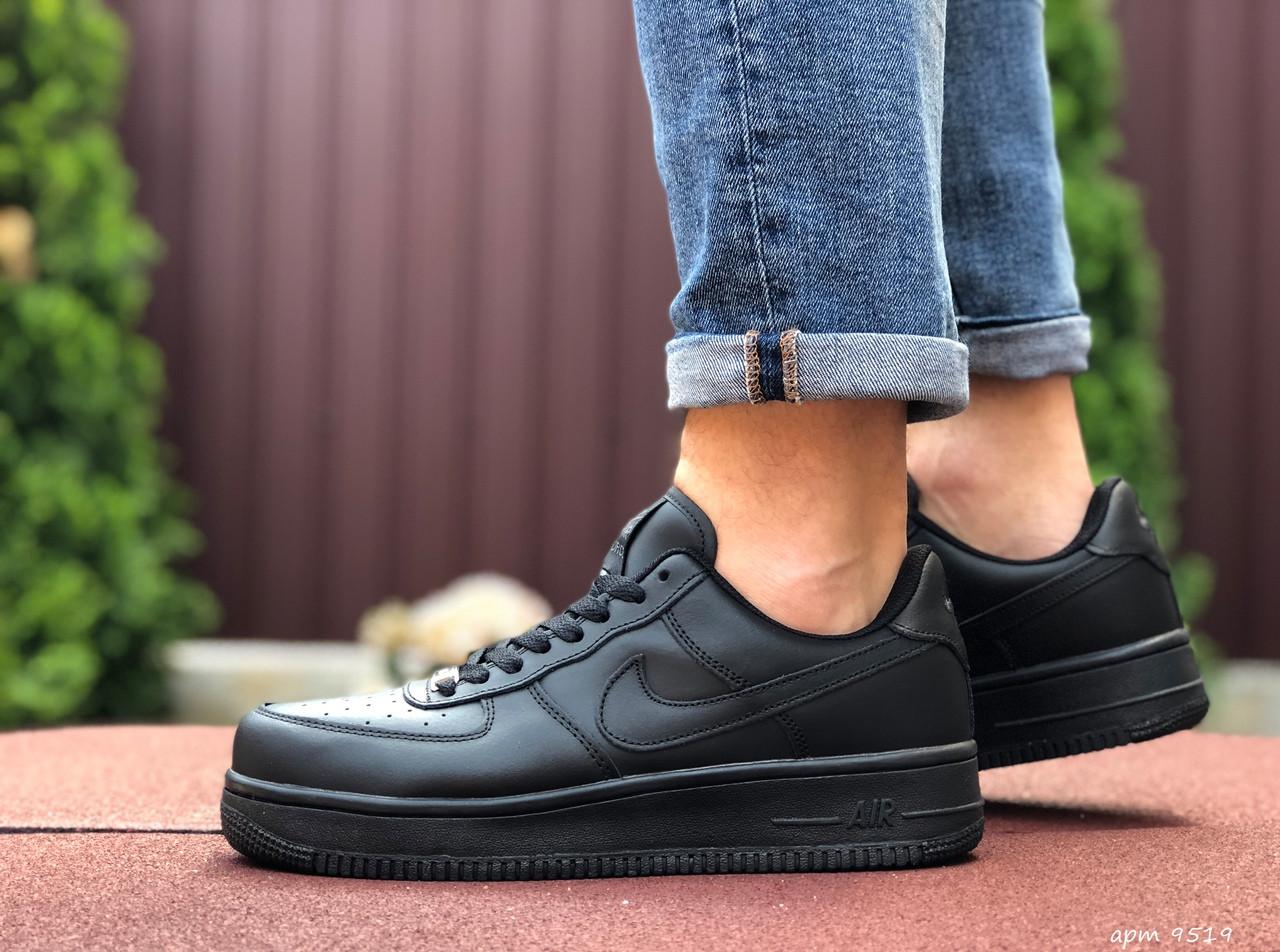 Чоловічі кросівки Nike Air Force (чорні) 9519