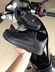 Чоловічі кросівки Nike Air Force (чорні) 9519, фото 2