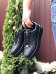 Чоловічі кросівки Nike Air Force (чорні) 9519, фото 3