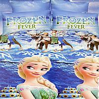 Детское постельное белье. Холодное сердце Frozen fever. Полуторный Фланель
