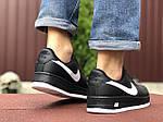 Чоловічі кросівки Nike Air Force (чорно-білі) 9523, фото 2