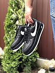 Чоловічі кросівки Nike Air Force (чорно-білі) 9523, фото 3