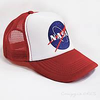 Бейсболка NASA червона з сіткою, фото 1