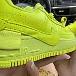 Женские кроссовки Nike Air Force 1 Low Jester Neon Green (зеленые) C-1877, фото 2