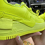 Жіночі кросівки Nike Air Force 1 Low Jester Neon Green (зелені) C-1877, фото 2