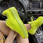 Женские кроссовки Nike Air Force 1 Low Jester Neon Green (зеленые) C-1877, фото 3