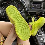 Женские кроссовки Nike Air Force 1 Low Jester Neon Green (зеленые) C-1877, фото 4