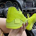 Женские кроссовки Nike Air Force 1 Low Jester Neon Green (зеленые) C-1877, фото 5