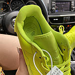 Женские кроссовки Nike Air Force 1 Low Jester Neon Green (зеленые) C-1877, фото 6