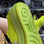 Женские кроссовки Nike Air Force 1 Low Jester Neon Green (зеленые) C-1877, фото 7