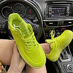 Женские кроссовки Nike Air Force 1 Low Jester Neon Green (зеленые) C-1877, фото 8