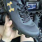 Мужские кроссовки Under Armour Scorpio Black Gold (черно-золотые) C-1864, фото 5