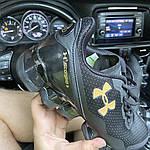 Мужские кроссовки Under Armour Scorpio Black Gold (черно-золотые) C-1864, фото 7