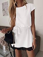 Елегантне плаття з поясом 040 В /03