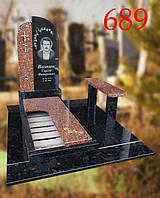 Памятник с гранитной скамейкой, фото 1