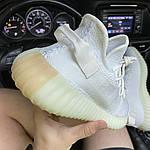 Кросівки Adidas Yeezy Boost 350 V2 White Cream (білі) - Унісекс C-573, фото 6