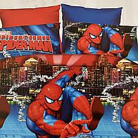Детское постельное белье. Человек Паук. Spider-man Полуторный Фланель