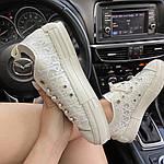 Жіночі кеди Dior B23 Low-Top Sneakers White (білі) C-1867, фото 6