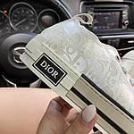 Жіночі кеди Dior B23 Low-Top Sneakers White (білі) C-1867, фото 7