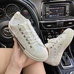 Жіночі кеди Dior B23 Low-Top Sneakers White (білі) C-1867, фото 9