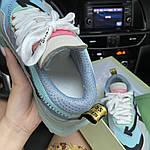 Жіночі кросівки OFF-White ODSY - 1000 Turquoise (білі) C-1863, фото 6