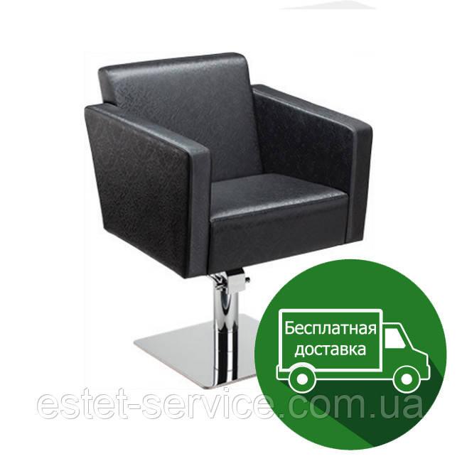 Парикмахерское кресло на пневматике и основании квадрат КВАДРО FZ015