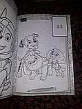 Раскраска детская А5 Щенячий Патруль белый фон + наклейки  RASK9, фото 2
