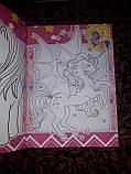 Раскраска детская А5 для девочек My little pony маленькая пони Дисней в наборе идет 80 наклеек RASK11, фото 3