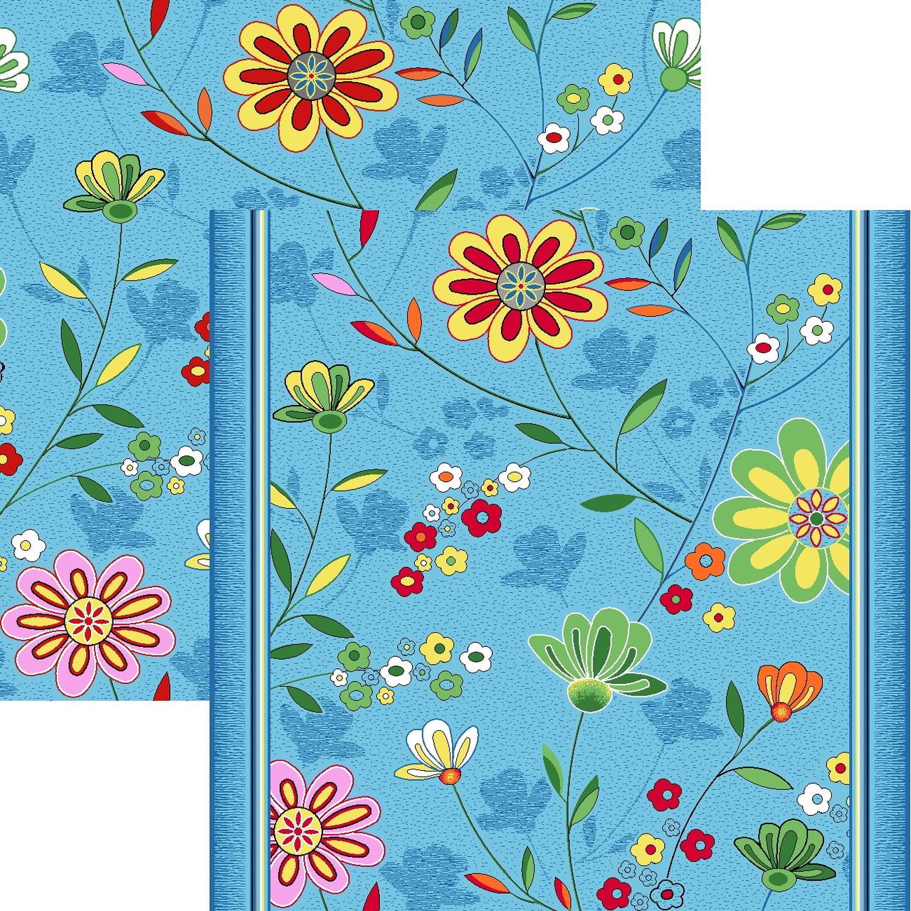 Детский ковролин Цветы 10