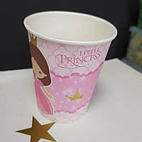 Стакан рожевий принт little princess 200 мл