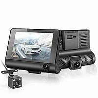 Видеорегистратор с 3 камерами Car DVR WDR Full HD 1080P