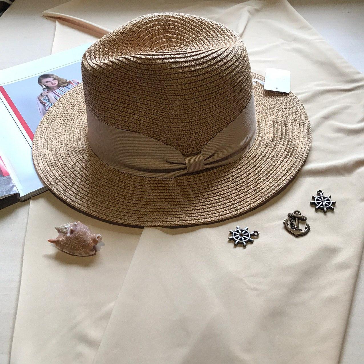 Шляпка федора Аннабелла пшеничный цвет