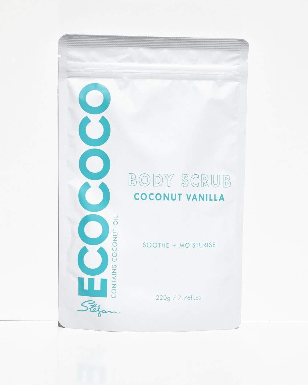 Соляной скраб для тела с экстрактом кокоса и ванилью Ecococo Coconut Vanilla Body Scrub