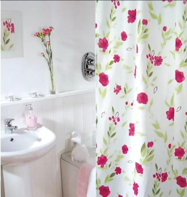 Шторка для ванної Viland Квітковий ранок Поліестр 180 Х 200 см