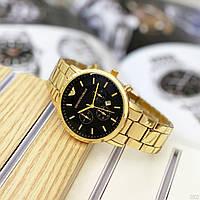 Наручные кварцевые часы в стиле Emporio Armani Золотой цвет