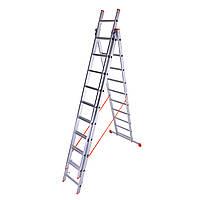 Лестница трехсекционная алюминиевая Laddermaster Sirius A3A10. 3x10 ступенек
