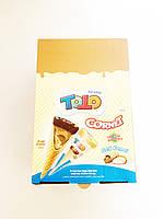 Вафельный рожок со вкусом лесного ореха Tо To Cornet, 25 г (24 шт у коробке), фото 1
