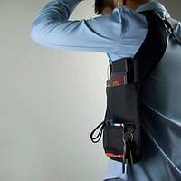 Сумка мессенджер Агент 007, Черная, мужская сумка кобура скрытого ношения для денег и документов