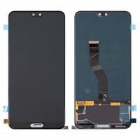 Дисплей Huawei P20 Pro (CLT-L29, CLT-L09) с сенсором (тачскрином) черный, TFT